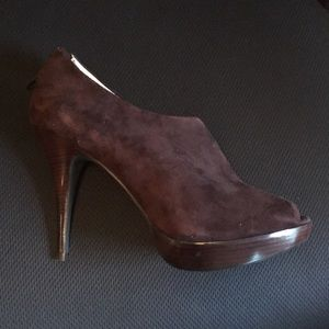 Chocolate brown heels (never worn)